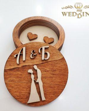 Дървена кутия за пръстени M5