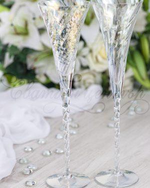 Кристални чаши Champagne Optic