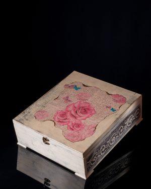 Сватбена кутия декупаж