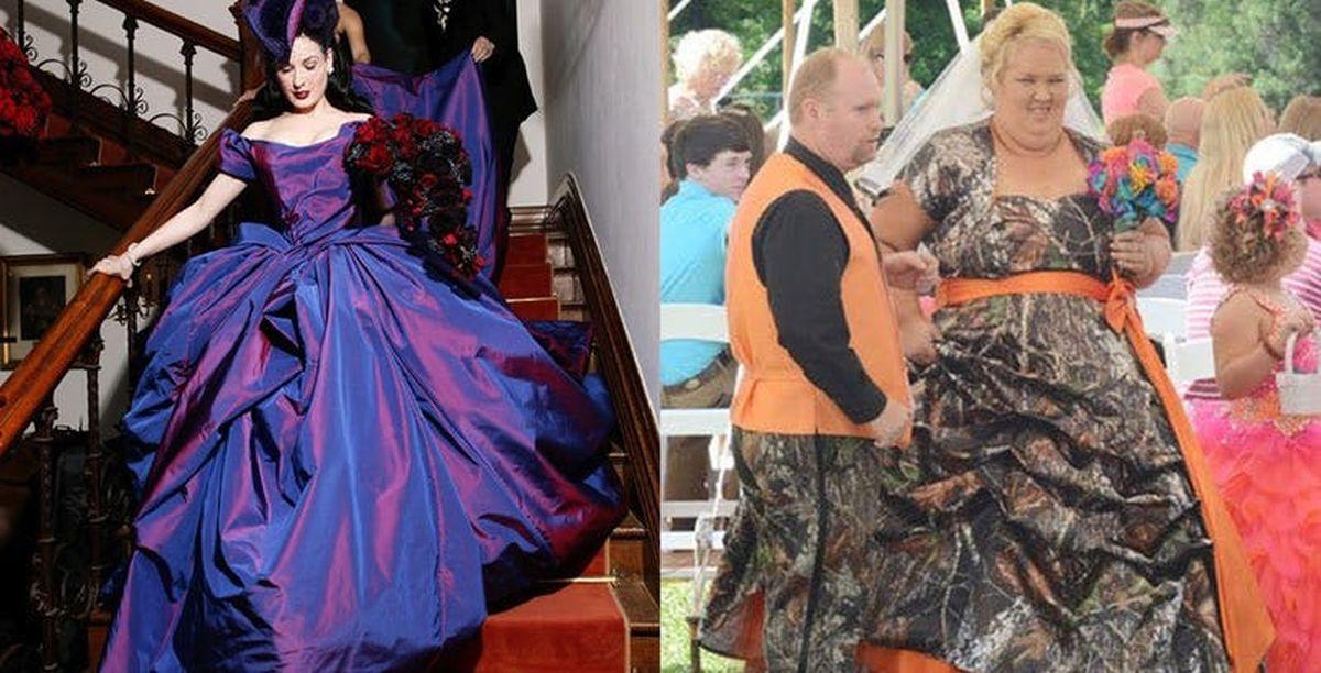 Топ 10 на най-странните булчински рокли на звездите