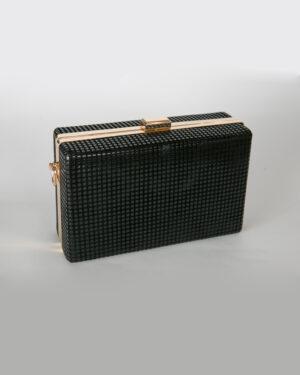 Официална дамска чанта със златен кант