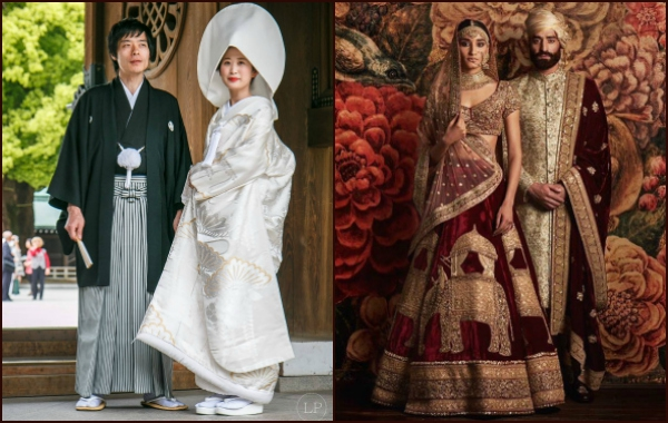 Как изглеждат традиционните булчински рокли по света