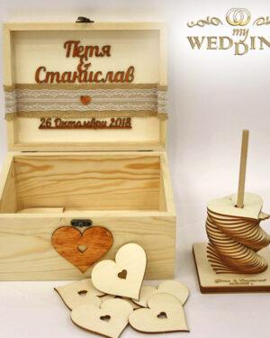 Дървена кутия за пожелания