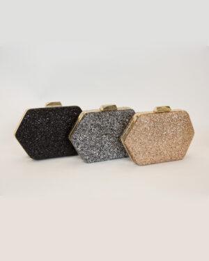 Официална дамска чанта със златен обков