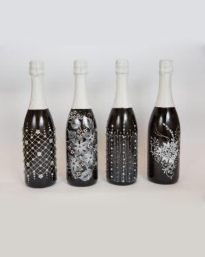 Сватбена бутилка Декор