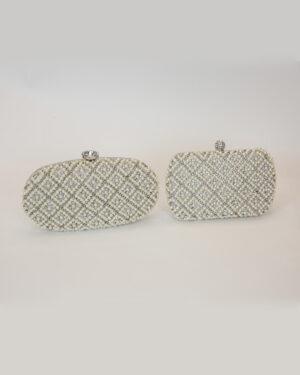 Булчинска чанта с перли и камъни