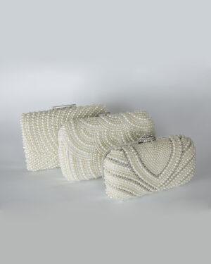 Булчинска чанта с камъни и перлички