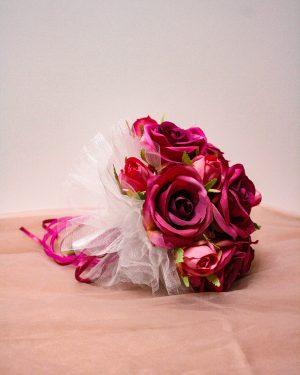 Булчински букет в розово