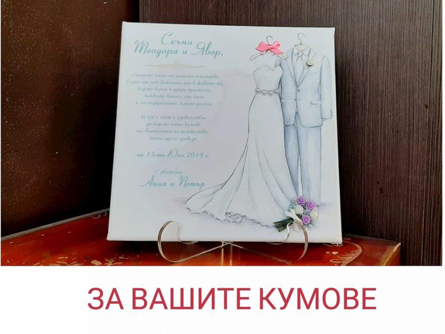 Покана към кумовете   Сватбен видео помощник