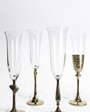 Кристални чаши със златна орнаментика