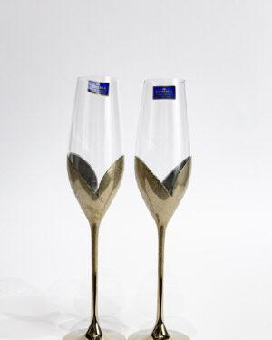 Кристални сватбени чаши Лале