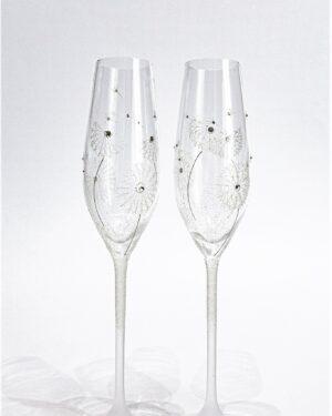 Кристални сватбени чаши Глухарче