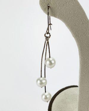 Висящи обеци с перли