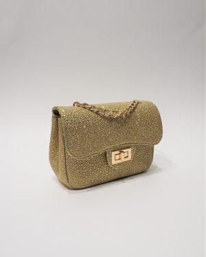 Официална дамска чанта с блясък NEW