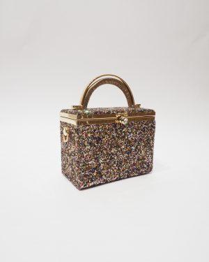 Официална дамска чанта с брокат NEW