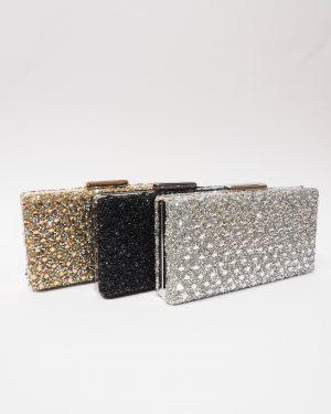 Официална дамска чанта с камъчета NEW