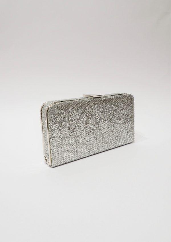 Официална дамска чанта с бляскав ефект NEW