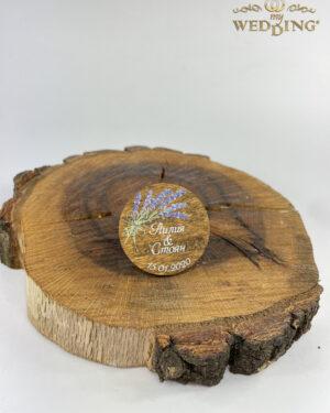 Дървено магнитче