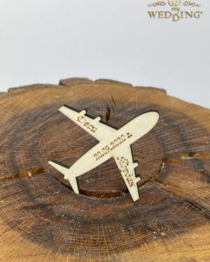 """Дървено магнитче """"Самолет"""""""