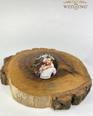 Дървено магнитче със снимка