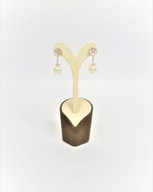 Висящи обеци с перла