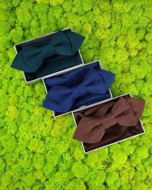 Комплект кърпичка и папийонка