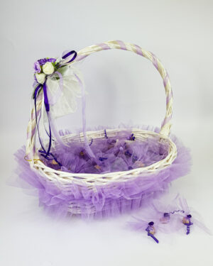 Кошница за късмети в лилаво