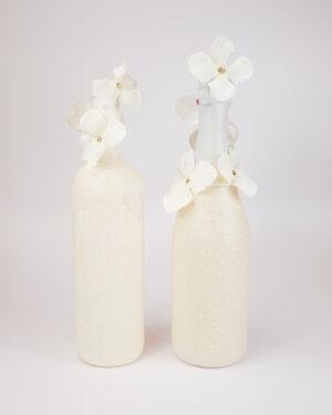 Сватбени бутилки с брокат