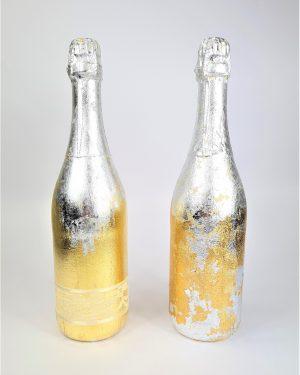 Сватбена бутилка Silver & Gold